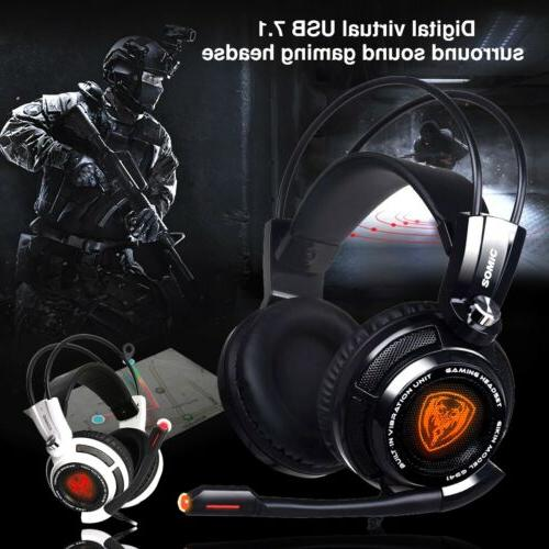 New SOMIC Virtual 7.1 Surround Sound Gaming Headset 4D Vibra