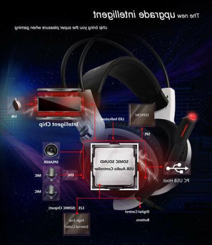 Somic Virtual HiFi Surround Sound Gaming Earphones Earband -G941