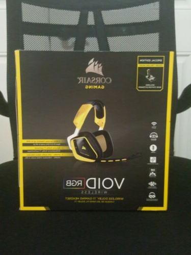 void pro wireless yellow headband headsets