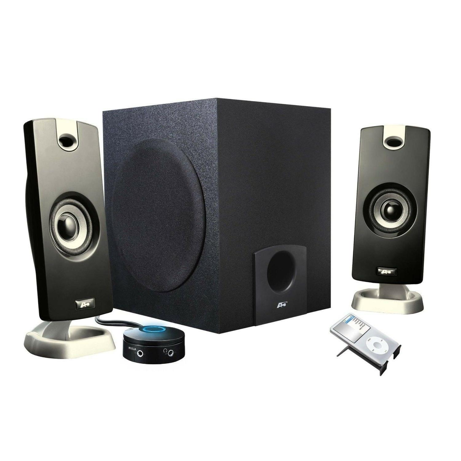 PC Laptop Computer Surround Sound Speakers w/Subwoofer for video gaming