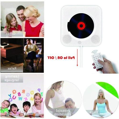 Wall Mounted CD <font><b>Surround</b></font> <font><b>Sound</b></font> Bluetooth Portable Music Player Control Stereo