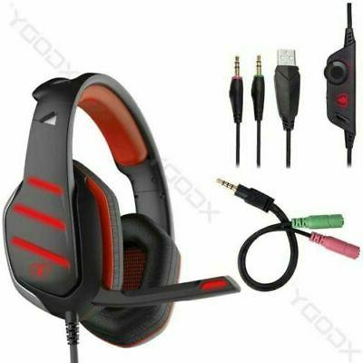 Wired Gaming Headset LED for Xbox Ninendo
