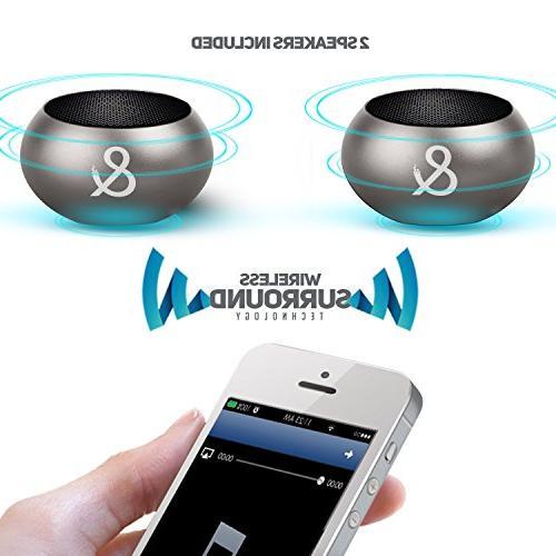 X2 Bluetooth Surround Volume 150W Bass, to 1 Device, Mini Wireless