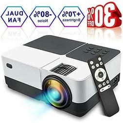 LCD Projector, 2018 Newest 2500 Lumens Portable Movie Video