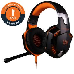 LED Gaming Headset Headphones Surround Sound Bass With Mic U
