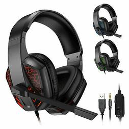 LED Gaming Headset Surround Stereo Sound Headphone w/Mic for