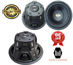 Lanzar 15in Car Subwoofer Speaker - Black Non-Pressed Paper