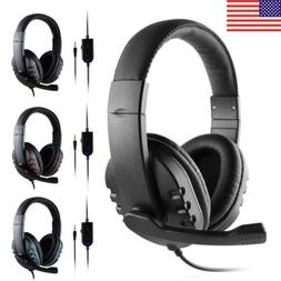 Mic Stereo Surround Sound Gam Headphone Gaming Headset For P