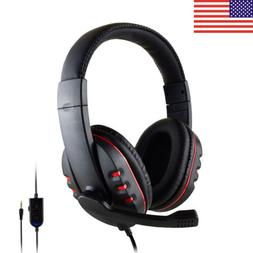 Mic Stereo Surround Sound Gaming Headphone Headset For PS4 X