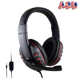 Mic Stereo Surround Sound Gaming Headphones Headsets For PS4