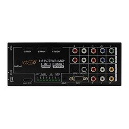 Multi-Functional HDMI Audio Extractor with 8 Inputs to 1 HDM