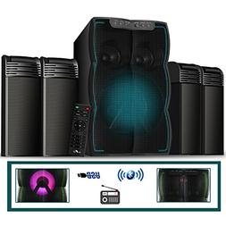 beFree Sound 4.1 Channel Multimedia Wired Speaker Shelf Syst