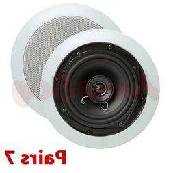 """NEW  In Wall Ceiling Home Speakers 5.25"""" Surround Sound 2 Wa"""