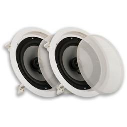 "NEW 8"" in wall Ceiling Speakers.Home Audio Flush Mount Pair."