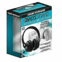 New Sharper Image Own Zone Wireless TV Headphones ear Plug A