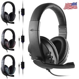 New PC Computer Gaming Headphone Headset with Mic LED Surrou