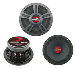 "Upgraded 8"" High Power MidBass - Powerful 800 Watt Peak 90"