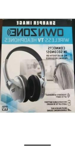 Sharper Image OWN ZONE Wireless Rechargeable TV Headphones B
