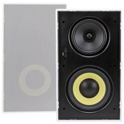 "Pair of 6.5"" 3-Way In Wall Stereo Audio Speaker 320W Surroun"