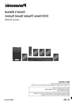 Panasonic SC-XH50 Home Theater System Owners Instruction Man