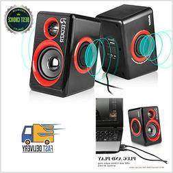 PC Computer Speakers, Reccazr SP2040 USB-Powered Multimedia