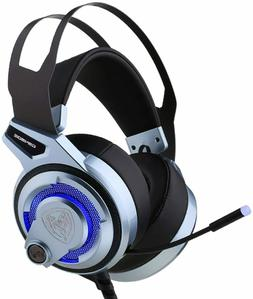 PC PS4 Gaming Headset Noise Cancelling Overear,7.1 Virtual S
