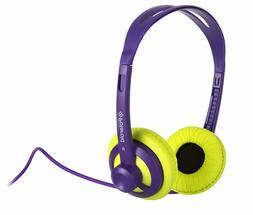 Polaroid PHP11PULM Super Light Weight Neon Headphones, Tangl