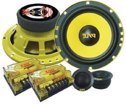 "New PYLE PLG6C 6.5"" 400W 2 Way Car Audio Component Speakers"