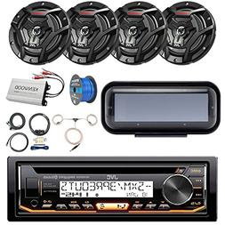 Pontoon Boat Audio Package: JVC KD-R99MBS Marine Bluetooth C
