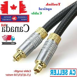 Premium Toslink Optical Fiber Cable Gold Plated Audio Cable
