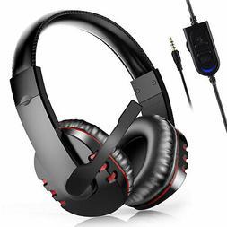 pro gamer mic headset stereo bass surround