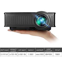Video Projector, GOXMGO Portable 1080p Full HD Movie Project