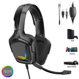 PS4 Gaming Headset ONIKUMA K20 Xbox one Headphone with RGB S