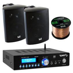 Pyle PDA5BU Amplifier Receiver Stereo, Bluetooth, AM/FM Radi