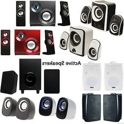 QUALITY Compact Active Surround Sound Speaker System -TV/Lap
