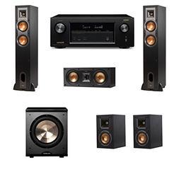 Klipsch R-28F Floorstanding Speakers 5.1 PL-200 Denon AVR-X1