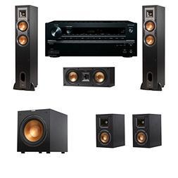 Klipsch R-26F Floorstanding Speakers 5.1 R-12SW Onkyo TX-NR6