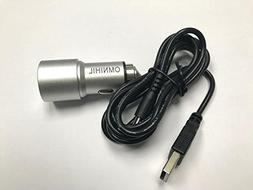 OMNIHIL Replacement 2-Port USB Car Charger+MICRO-USB for APE
