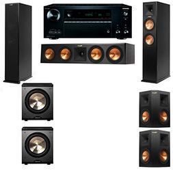 Klipsch RP-250F Tower Speakers-PL-200-5.2-Onkyo TX-NR757