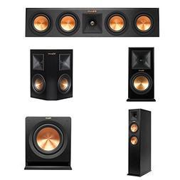 """Klipsch RP-440C Center Channel Speaker Bundle 10"""" Subwoofer,"""