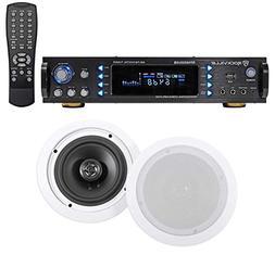 "Rockville RPA6000USB 1000 Watt Home Theater Receiver+2) 6.5"""