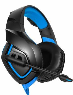 RUNMUS Gaming Headset PS4 Headset with 7.1 Surround Sound, X