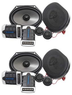 2 Pairs Rockville RV68.2C 6x8/5x7 Component Car Speakers 180