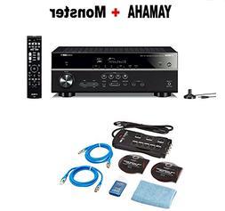 Yamaha RX-V485BL 5.1-Channel 4K Ultra HD AV Receiver with Wi