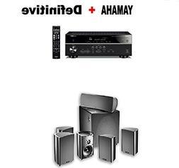 Yamaha RX-V585BL 7.2-Channel 4K Ultra HD AV Receiver + Defin