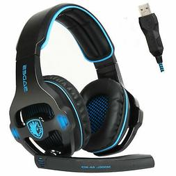 Sades SA-903 7.1 Surround Sound Gaming Headset Headband USB