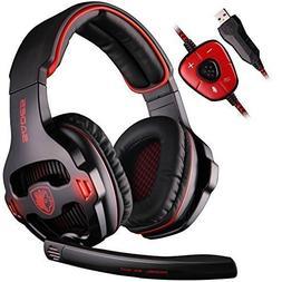 SADES SA903 7.1 Surround Sound USB PC Stereo Gaming Headset