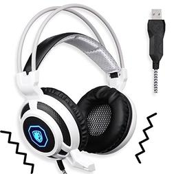 SADES SA905 Wired USB PC Gaming Headset Over-Ear headband He