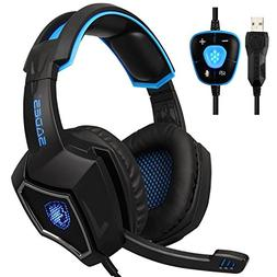 SADES Spirit Wolf USB 7.1 Surround Sound Gaming Headset with