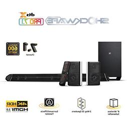 Nakamichi Shockwafe Pro 7.1Ch DTS:X 600W 45-Inch Sound Bar w